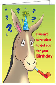 greeting cards birthday donkey really big greeting card