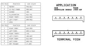 dodge radio wiring diagrams dodge wiring diagrams instruction