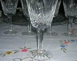 Vintage Waterford Irish Crystal Lismore Bowl By Birneycreek Waterford Wine Vintage Waterford Irish Crystal Claret Wine