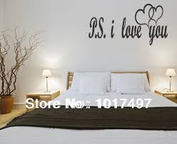 popular romantic bedroom decorations buy cheap romantic bedroom free shipping large size ps i love you vinyl wall lettering bedroom decor quotes romantic