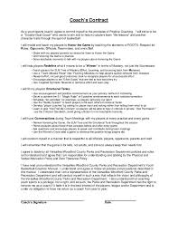 coaching contract templates printable sample personal training