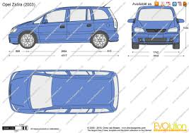 opel zafira 2002 the blueprints com vector drawing opel zafira