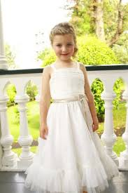 beautiful white lace custom flower dress for little girls