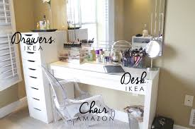 Dressing Vanity Table White Makeup Desk With Drawers On Both Sides In Noble Mirror