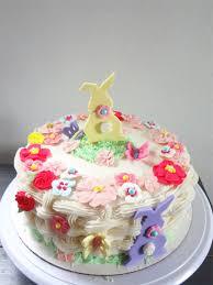 Easter Cake Edible Decorations easter flower basket cake working mom u0027s edible art