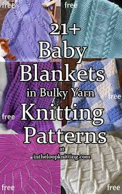 free knitting pattern quick baby blanket knitting patterns for baby blankets in bulky chunky and super