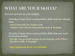 a employability skills b seeking skills search resume