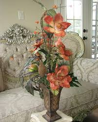 favorite inviting artificial floral arrangements for family room