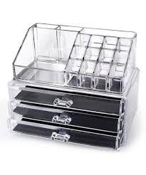 acrylic home design inc amazon com home it clear acrylic makeup organizer cosmetic