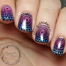 gradient with stamping nail art youtube