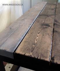 Diy Wood Plank Table Top by Best 25 Grey Stained Wood Table Ideas On Pinterest Grey House