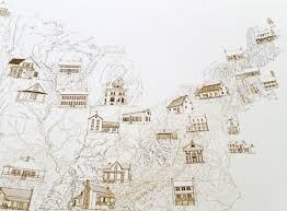 Eastern States Map by Turn Of The Centuries State Architecture Map Drawing