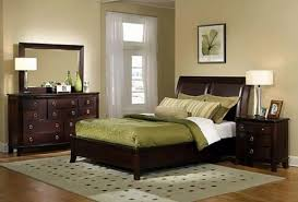 paint colors for bedroom with dark wood furniture