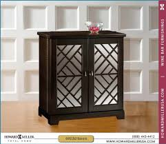 Black Bar Cabinet Howard Miller Black Console Wine And Bar Cabinet With Mirrored