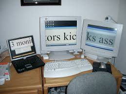 Gaming Desk For 3 Monitors by Back In The Old Days The Glorious Pc Gaming Master Race