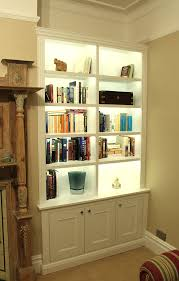 outstanding bookcase lighting pics decoration inspiration