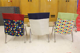 Folding Student Desk Chair by Homemade Classroom Chair Pockets Child At Heart Blog