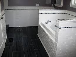 subway tile bathroom floor ideas fascinating subway tile walls floor bathrooms photo design