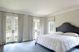 Bedroom Crown Molding Black And White Drapes Bedroom Traditional With Area Rug Crown