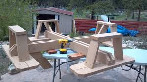 woodwork square picnic table plans pdf plans