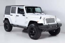 jeep rubicon white 2017 2017 used jeep wrangler unlimited sahara hardtop lift kit 35 s