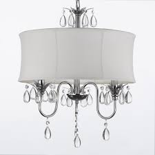 lamps creative white lamp shades with crystals design decor best