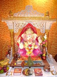 Home Ganpati Decoration Ganpati House Decoration U2026 Ganpati Decoration Idea Pinterest