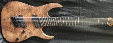 fanned fret 7 string custom built siggery 7 string guitar