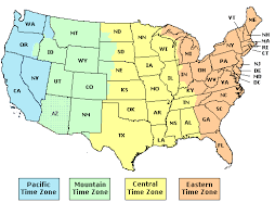 united states map with time zones and area codes time zone map of usa and mexico my us timezones clock