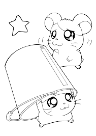 hamtaro printable coloring pages printable free hamtaro coloring