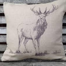 Stag Cushions Cushions Country Style Linen U0026 Tartan Cushions Shop