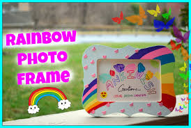 how to paint a photo frame diy rainbow photo frame kids craft