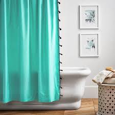 color on color tassel shower curtain pool pbteen
