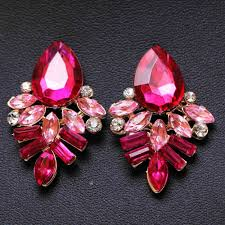 pink earrings new women fashion jewelry style blue black pink earrings handmade