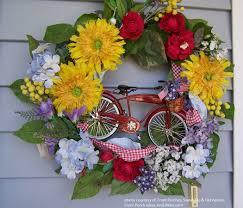summer wreath decorative front door wreaths year