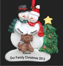 personalized family ornaments with pets rainforest