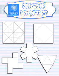 this set includes 5 foldable templates in different shapes and the