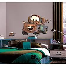Disney Cars Home Decor Amazon Com New Giant Mater Wall Decals Disney Cars Tow Truck