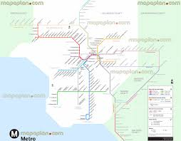 Mta Map Subway Los Angeles Map Metro Rail Subway Metrolink Busway Stations