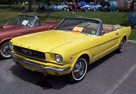 1965 yellow mustang 1965 ford mustang convertible yellow w beige interior