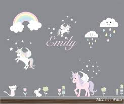 vinyl wall decals reusable wall decals wall stickers unicorn zoom