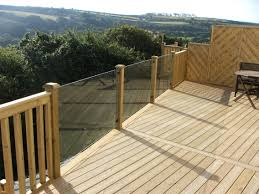 Timber Handrails And Balustrades Glass Balustrades Attached To Timber Decking With Stainless Steel
