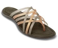 crocs huarache flip flop women bronze espresso flip