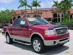 f150 ford lariat supercrew for sale 2007 ford f150 lariat supercrew 4x4 in redfire metallic b05885