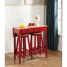 inroom designs 3 piece pub table set walmart com