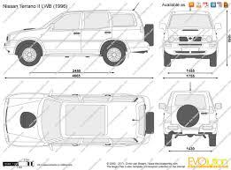 nissan terrano 1997 the blueprints com vector drawing nissan terrano ii lwb