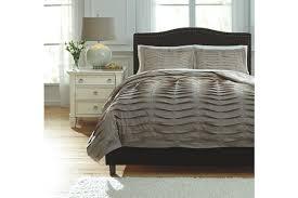 voltos 3 piece queen duvet cover set ashley furniture homestore