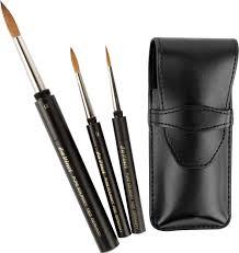 da vinci maestro kolinsky sable travel brush set of 3 in case