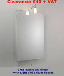 two bathroom mirror lights on sale at sparks u2013 available as stock