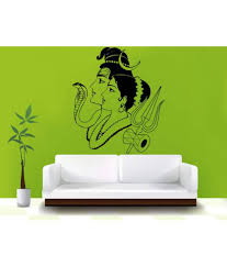 hoopoe decor lord shiva with parvati wall sticker buy hoopoe